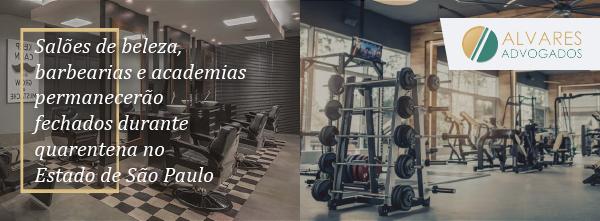 Salões de beleza, barbearias e academias permanecerão fechados durante quarentena no Estado de São Paulo