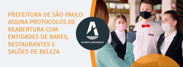 Prefeitura de São Paulo assina protocolos de reabertura com entidades de bares, restaurantes e salões de beleza